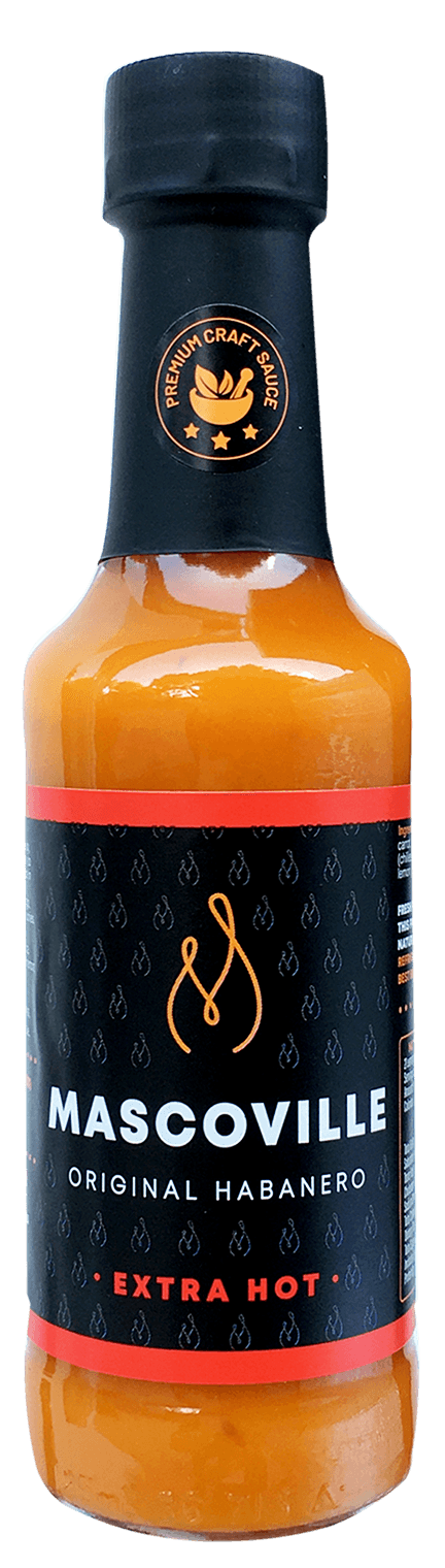 Mascoville Habanero Hot Sauce Extra Hot Large Best Craft Hot Sauce best chilli South Africa scoville units
